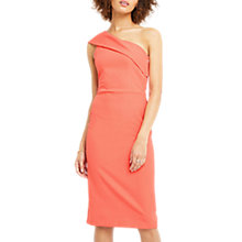 Buy Oasis One Shoulder Pencil Dress, Coral Online at johnlewis.com