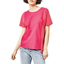 Buy Warehouse Front Pocket T-shirt, Bright Pink Online at johnlewis.com