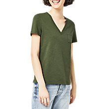 Buy Warehouse V-Neck Slub Cotton T-Shirt Online at johnlewis.com