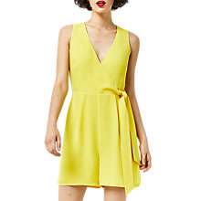 Buy Warehouse Cross Front Playsuit, Yellow Online at johnlewis.com