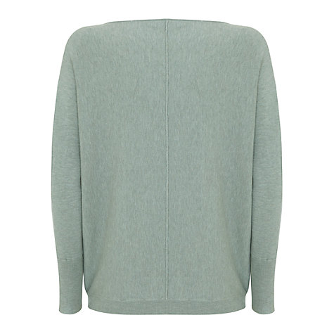 Buy Mint Velvet Asymmetric Button Cardigan, Light Green Online at johnlewis.com