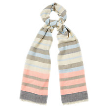 Buy Oasis Block Stripe Neon Scarf, Multi Online at johnlewis.com