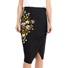 Buy Oasis Spring Embroidered Skirt, Multi/Black Online at johnlewis.com