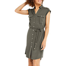 Buy Oasis Shirt Dress, Khaki Online at johnlewis.com