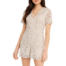 Buy Oasis Lace Playsuit Online at johnlewis.com