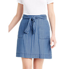 Buy Oasis Tencel Tie Front Skirt, Denim Online at johnlewis.com