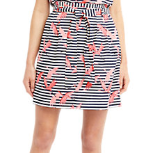 Buy Oasis Flamingo Stripe Linen Skirt, Multi Online at johnlewis.com