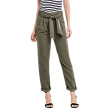 Buy Oasis Tencel Tie Belt Trousers, Khaki Online at johnlewis.com