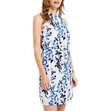Buy Oasis Tropical Botanical Print Dress, Blue/Multi Online at johnlewis.com
