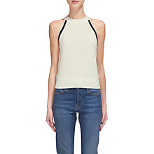 Buy Whistles Trim Knit Vest, Ivory Online at johnlewis.com