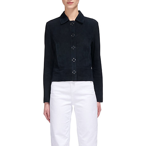Buy Whistles Turner Suede Jacket, Navy Online at johnlewis.com