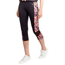 Buy Oasis Sport Grace Printed Capri Leggings, Multi Online at johnlewis.com