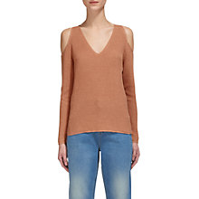 Buy Whistles Cold Shoulder Jumper, Neutral Online at johnlewis.com