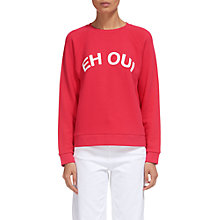 Buy Whistles Namaste Logo Sweatshirt, Pink Online at johnlewis.com