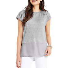Buy Oasis Crinkle Double Layer T-Shirt Online at johnlewis.com