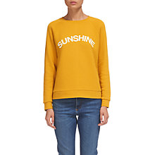 Buy Whistles Vacation Logo Sweatshirt, Yellow Online at johnlewis.com