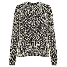 Buy Samsoe & Samsoe Jois Soft Textured Jumper, Black Melange Online at johnlewis.com