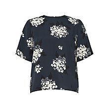 Buy Samsoe & Samsoe Gloria Printed Blouse, Florasion Blue Online at johnlewis.com