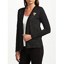 Buy Maison Scotch Metallic Fibre Cardigan Blazer, Black Online at johnlewis.com
