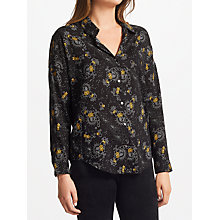 Buy Maison Scotch Printed Cotton Blend Shirt, Multi Online at johnlewis.com