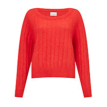 Buy Samsoe & Samsoe Nor Round Neck Jumper, High Red Melange Online at johnlewis.com