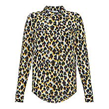 Buy Samsoe & Samsoe Milly Printed Blouse, Leopard Jaune Online at johnlewis.com