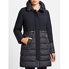 Buy Gerry Weber Plain Quilted Coat, Navy Online at johnlewis.com