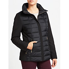 Buy Gerry Weber Short Quilted Coat, Black Online at johnlewis.com