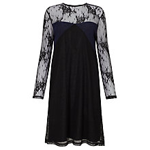 Buy Samsoe & Samsoe Camilla Long Sleeve Lace Dress, Black Online at johnlewis.com