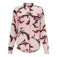 Buy Samsoe & Samsoe Milly Printed Blouse, Glaieul Rose Online at johnlewis.com