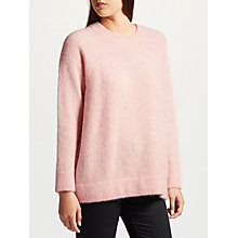 Buy Samsoe & Samsoe Nor Longline Jumper, Pink Online at johnlewis.com