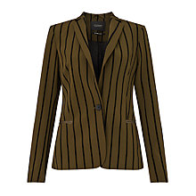 Buy Maison Scotch Printed Lining Blazer, Olive/Black Online at johnlewis.com