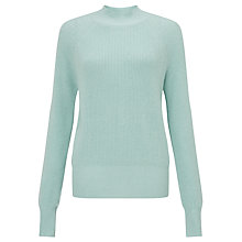 Buy Samsoe & Samsoe Staley Ribbed Turtle Neck Jumper, Harbour Grey Online at johnlewis.com