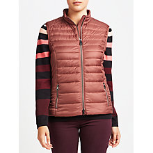Buy Gerry Weber Quilted Gilet, Mauve Online at johnlewis.com