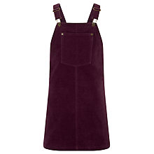 Buy John Lewis Girls' Velvet Pinifore Dress, Plum Online at johnlewis.com