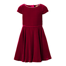 Buy John Lewis Heirloom Collection Girls' Velvet Dress, Red Online at johnlewis.com
