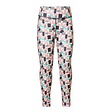 Buy John Lewis Girls' Geo Multi Sports Leggings, Cream Online at johnlewis.com