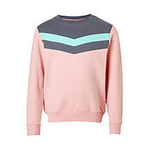 Buy John Lewis Girls' Chevron Sweatshirt, Pink Online at johnlewis.com
