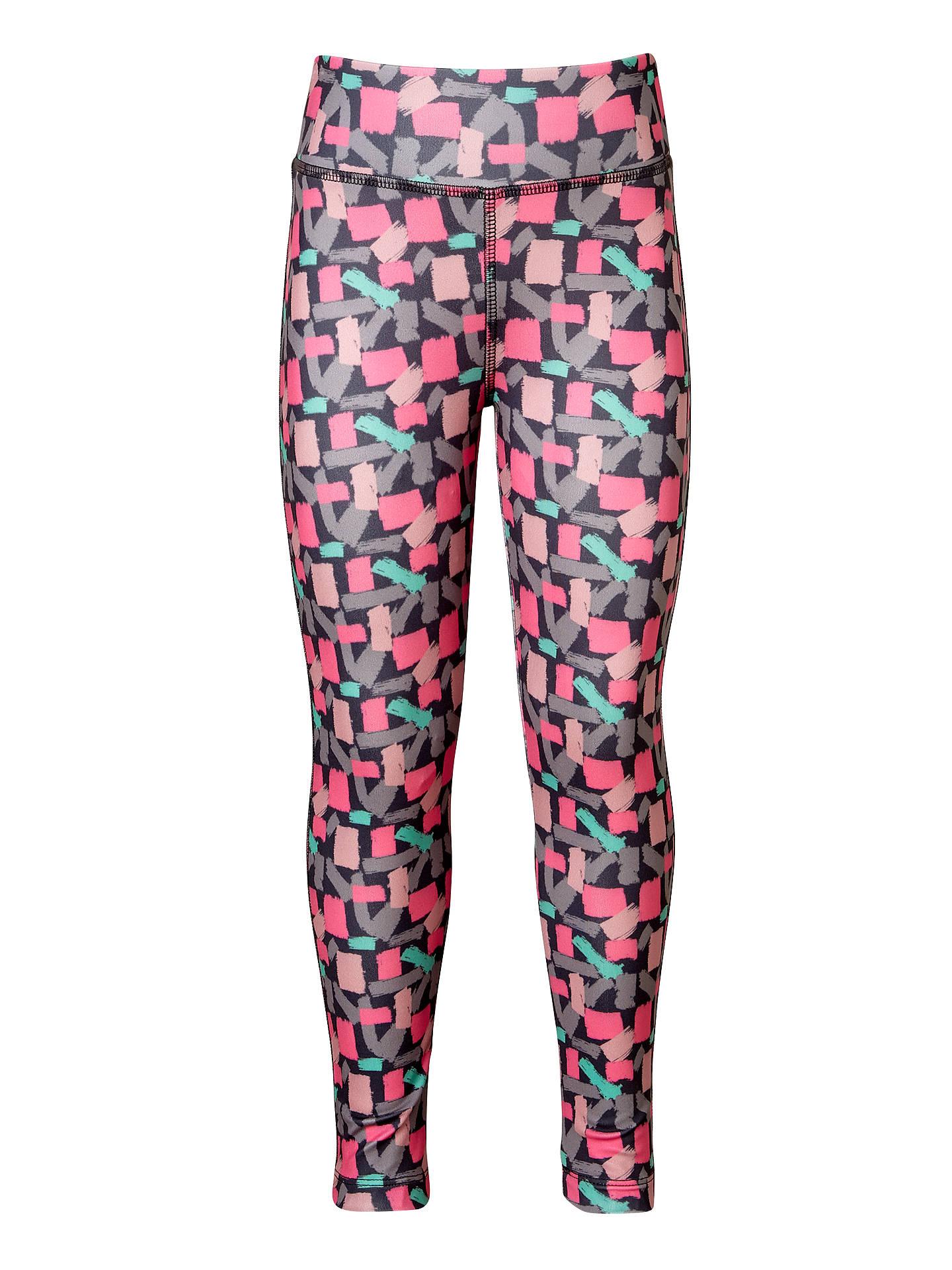 62104f994cc Buy John Lewis Girls' Geo Sport Leggings, Bright Pink, 2 years Online at ...
