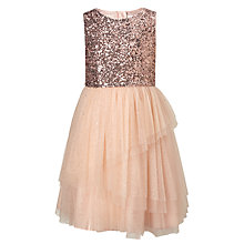 Buy John Lewis Girls' Sparkle Tier Dress, Pink Online at johnlewis.com
