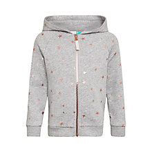 Buy John Lewis Girls' Star Print Sweater Hoodie, Grey Marl Online at johnlewis.com