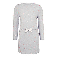 Buy John Lewis Girls' Star Print Sweater Dress, Grey Online at johnlewis.com