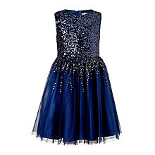 Buy John Lewis Girls' Sequin Dress Online at johnlewis.com