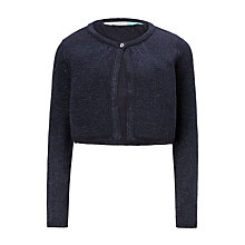 Buy John Lewis Girls' Party Shrug, Navy Online at johnlewis.com