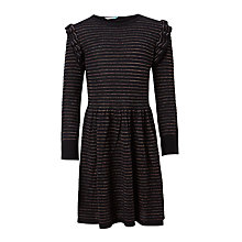 Buy John Lewis Girls' Striped Glitter Knit Dress Online at johnlewis.com