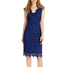 Buy Phase Eight Petals Lace Dress, Lapis Online at johnlewis.com
