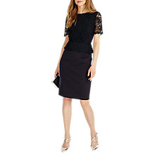 Buy Phase Eight Halsey Lace Shift Dress, Navy Online at johnlewis.com