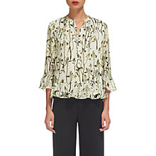 Buy Whistles Wheatsheaf Dobby Print Blouse, Ivory/Multi Online at johnlewis.com