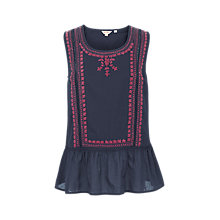Buy Fat Face Camilla Embroidered Peplum Top Online at johnlewis.com
