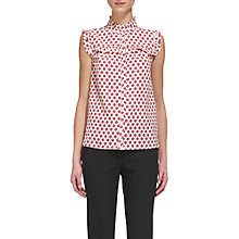 Buy Whistles Nisha Frill Print Blouse, Pink/Multi Online at johnlewis.com
